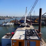 Rental floating crane barges